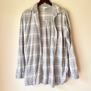 Old Navy Long Sleeve Button Down Plaid Shirt Large